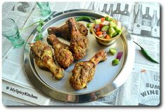 Spice Rubbed Grilled Chicken with Cucumber Relish