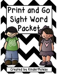 Print and Go Sight Word Packet Packet includes:  6 pages of Sight Word Graphing 6 pages of Spin, Read and Trace 6 pages of Color by Sight Word 6 pages of Read, Trace and Write Sentences  Sight words included in packet: you, that, or, one, had, by, what, can, said, there, use, she, will, up, other, about, many, make, like, into, look, her, would, time