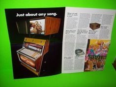 PHONO VUE By ROWE 1960s ORIGINAL VIDEO JUKEBOX PHONOGRAPH SALES FLYER BROCHURE #phonovue #jukeboxflyer #rowejukebox