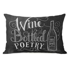 Wine is Bottled Poetry Lumbar Pillow