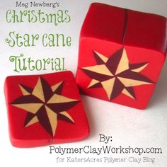 Looking for a polymer clay cane tutorial? This vibrant Christmas star looks harder than it actually is! Make your own polymer clay cane from this tutorial.