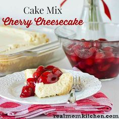 To celebrate both National Cherry Month and National Pie Month I am sharing Cake Mix Cherry Cheesecake recipe with you that works for both. Cheesecake Recipes, Dessert Recipes, Desserts, Mini Cakes, Cupcake Cakes, Cupcakes, Mini Cherry Cheesecakes, Vanilla Wafer Crust, Vegetarian Cake