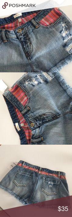 •Acid Wash Style Shorts with Frayed Hem/Boho Trim• Super cute slightly acid washed shorts with hippie boho pattern style trim and frayed hems. Perfect festival shorts!. New with tags✨ Zumies Shorts