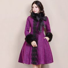 >> Click to Buy << Autumn and Winter New Fashion Women's Vintage Elegant Outwear Long Sleeve Woolen Jacket Coat Patchwork Lace Winter Overcoat #Affiliate