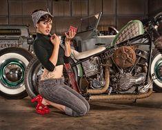 Harley Davidson Panhead #harleydavidsongirlstattoos