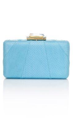 Sky Blue Espey Clutch by Kotur  for Preorder on Moda Operandi