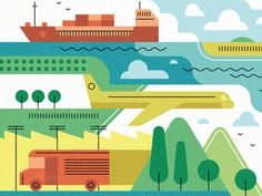 Crop from a recent editorial piece on sustainable logistics.