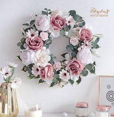 Summer Wreath, Dog Bed, Artificial Flowers, Flower Decorations, Floral Wreath, Bouquet, Wreaths, Spring, Handmade