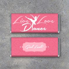 Ballet Candy Bar Wra