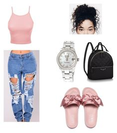 """""""Untitled #28"""" by marianafs ❤ liked on Polyvore featuring LE3NO, Puma and Rolex"""
