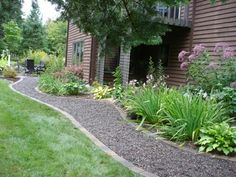 Landscaping with gravel green and attractive