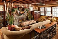 Hoy les presentamos la navidad con decoracion rustica, veinticinco ejemplos de adornos y diseños de decoraciones que forman ambientes cálidos y acogedores.