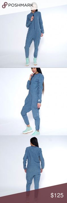 Nike international blue women's jumpsuit romper Brand new Nike Pants Jumpsuits & Rompers