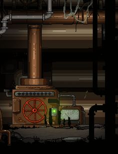 some old machinery inside a mountain.  Botlike. A roguelike Adventure. http://botlikegame.com/
