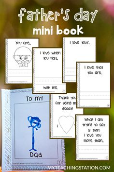 What I Love About My Dad. #‎FathersDay‬ Mini Book.. #Free template download.