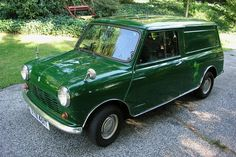 1968 Austin Mini Van, this was my first car! Mine was orange. Slept in it at Reading Festival 1982 :) #outstandingmemory