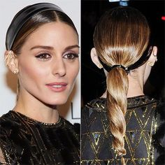 Olivia Palermo's Twisted Ponytail Might Be the Easiest Last-Minute Party Hair Idea Ever: Here's how it's done. | allure.com