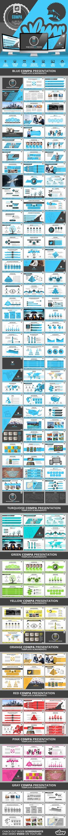 Compa PowerPoint Presentation Template #design #slides Download: http://graphicriver.net/item/compa-powerpoint-presentation-template/11378342?ref=ksioks