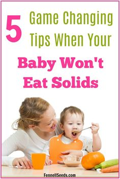 5 Game Changing Tips When Your Baby Won't Eat Solids 5 Game Changing Tips When Your Baby Won't Eat Solids Carolyn @ Fennell Seeds fennellseeds Best of Fennell Seeds baby won't eat solids Get Baby, Baby Sleep, Kids And Parenting, Parenting Hacks, Toddler Wont Eat, Baby Eating, Babies First Year, Baby Led Weaning, Mom Advice