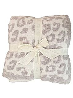 """Barefoot Dreams """"Barefoot in the Wild"""" Throw Blanket - Leopard, Cream/Stone"""