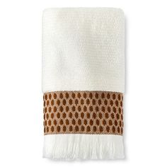 Threshold™ Woven Dot Hand Towel - Sour Cream/Toffee