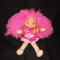 "Vintage #rainbow #brite #tickled pink 10"" doll #rainbow bright with dress,  View more on the LINK: 	http://www.zeppy.io/product/gb/2/162054536850/"