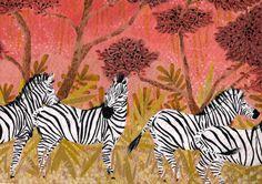 original zebra painting by becca stadtlander