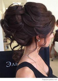 Amazing updo and earrings