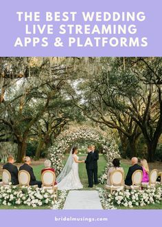 All the Best Live Streaming Platforms for Your Virtual Wedding in One List Wedding Advice, Wedding Planning Tips, Plan Your Wedding, Wedding Vendors, Wedding Ideas, Weddings, Wedding Website, Wedding Blog, Youtube Wedding