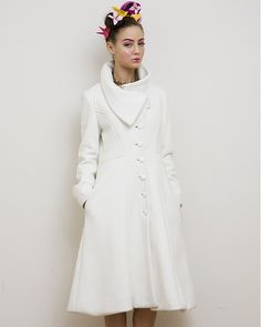 Vaute Couture White Coat by Vegan Fashion Designer Leanne Mai-ly Hilgart