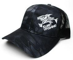 2b83fa273d1 Black Kryptek Camo Night Ops Hat Black Snapback Hats