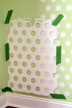 Polka dot painting- do the polka dots in the closet