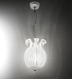 TULIPO Lantern. Hand blown Murano glass lantern style suspension.