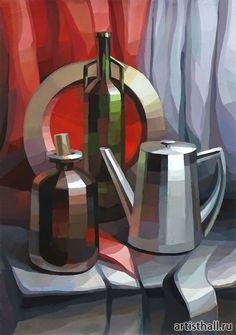 Decorative still life of our student # still life # decorative - - Still Life Drawing, Painting Still Life, Still Life Art, Art Sketches, Art Drawings, Composition Art, Cubism Art, Academic Art, Guache