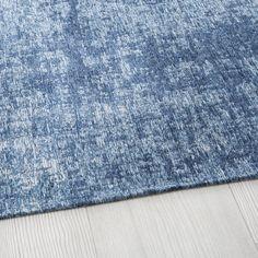 Tapis bleu motifs jacquard 160x230 | Maisons du Monde