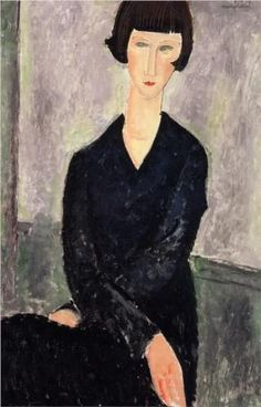 """Amedeo Modigliani """"The Black Dress"""", 1918 (Italy, Expressionism, 20th cent.)"""