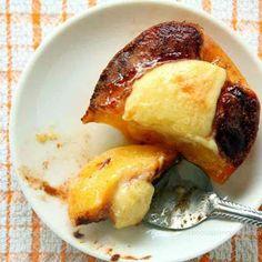 cheesecake-stuffed peaches recipe snapshot