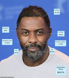 8. Idris Elba - 88.01 percent: Idris Elba, 47, (pictured above) was only just beaten by Da...
