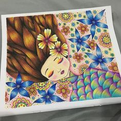 Done #motherearthbyemilayusof #emilayusof #colorpencils #prismacolor #adultcoloring #adultcolouring #coloringbooks #bayan_boyan #colorindolivrostop #coloring_secrets #coloring_masterpieces #johannabasford