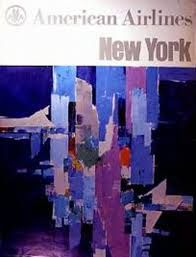 American Airlines to New York, c1960s. Not great quality, but the abstract is great.