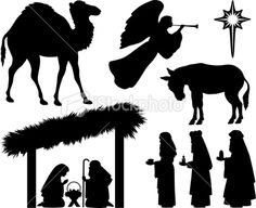 Silhouettes for the block Nativity.