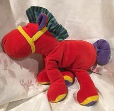 Rare 1997 Mary Meyer Horse Plush Red Pony Purple Stuffed Animal  | eBay
