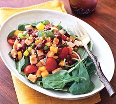 Smoked Turkey, Black Bean, Bell Pepper and Corn Salad Recipe  at Epicurious.com