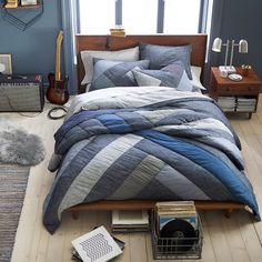 Get the denim look for your bed with a soft-to-the-touch feel. Woven from pure cotton, this True Blue Duvet Cover and Sham is made to keep you cozy and warm each night. Ikea Bedroom, Cozy Bedroom, Bedroom Sets, Bedding Sets, Boys Bedroom Furniture, Furniture Dolly, Bedroom Apartment, Bedroom Wall, Master Bedroom