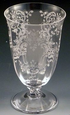 Fostoria Meadow Rose Vintage Etched~ I <3 etched glassware