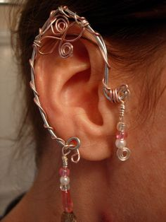 Pair of Elf Ear Cuffs, non pierced earring via Etsy