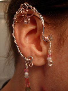 Pair of Elf Ear Cuffs, non pierced earring via Etsy