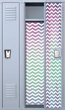 "Or in this case, ""locker"" ideas - Neon Chevron Locker Wallpaper Girls Locker Ideas, Cute Locker Ideas, Locker Rugs, Diy Locker, Locker Stuff, Locker Supplies, Diy School Supplies, Locker Accessories, School Accessories"
