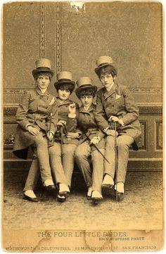 """""""The Four Little Dudes"""" San Francisco ca. 1880"""