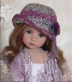 OOAK PRIMROSE Hat 4 Effner Little Darling, Ellowyne, Prudence, BJD by Linda